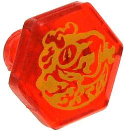 Beyblades Metal Fusion LOOSE Parts Face Bolt Trans Red with Lacerta Print