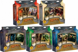 Magic the Gathering Set of 5 Japanese Language Commander EDH Decks [Political Puppets, Mirror Mastery, Heavenly Inferno, Devour for Power & Counterpunch]