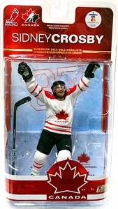 McFarlane Toys NHL Sports Picks Team Canada 2010 Series 2 Action Figure Sidney Crosby (Pittsburgh Penguins) White Jersey