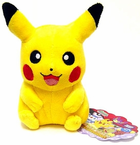 Pokemon DP Japanese Takara Tomy 5 Inch Plush Figure Pikachu [Happy Face]