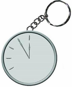 NECA Watchmen Movie Doomsday Clock Metal Keychain