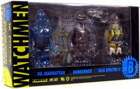 Medicom Watchmen Kubrick Set B [Rorschach, Dr. Manhattan and Silk Spectre]