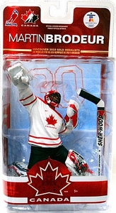 McFarlane Toys NHL Sports Picks Team Canada 2010 Series 2 Action Figure Martin Brodeur (New Jersey Devils) White Jersey