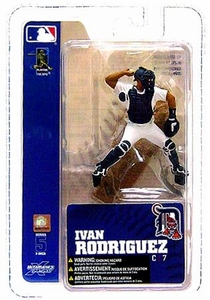 McFarlane Toys MLB 3 Inch Sports Picks Series 5 Mini Figure Ivan Rodriguez (Detroit Tigers)