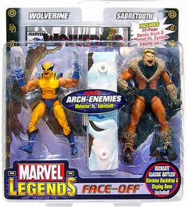 Marvel Legends Face Off Series 2 Action Figure Twin Pack Wolverine vs. Sabretooth Yelling Variant