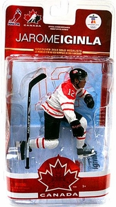 McFarlane Toys NHL Sports Picks Team Canada 2010 Series 2 Action Figure Jarome Iginla (Calgary Flames) White Jersey