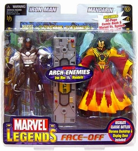 Marvel Legends Face Off Series 2 Action Figure Twin Pack War Machine vs. Mandarin Red Variant