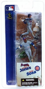 McFarlane Toys MLB 3 Inch Sports Picks Series 1 Mini Figure 2-Pack Chipper Jones (Atlanta Braves) & Sammy Sosa (Chicago Cubs)