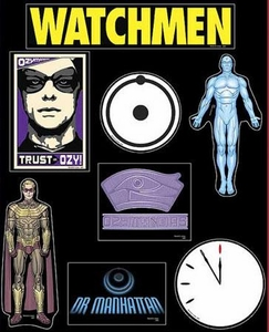 NECA Watchmen Movie Set of 7 Magnets Ozymandias & Dr. Manhattan