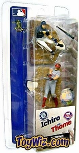 McFarlane Toys MLB 3 Inch Sports Picks Series 1 Mini Figure 2-Pack Ichiro (Seattle Mariners) & Jim Thome (Philadelphia Phillies)