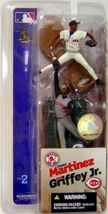 McFarlane Toys MLB 3 Inch Sports Picks Series 2 Mini Figure 2-Pack Pedro Martinez (Boston Red Sox) & Ken Griffey Jr. (Cincinnati Reds)