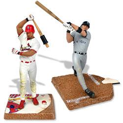 McFarlane Toys MLB 3 Inch Sports Picks Series 2 Mini Figure 2-Pack Albert Pujols (St. Louis Cardinals) & Jason Giambi (New York Yankees)