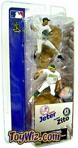 McFarlane Toys MLB 3 Inch Sports Picks Series 1 Mini Figure 2-Pack Derek Jeter (New York Yankees) & Barry Zito (Oakland Athletics)