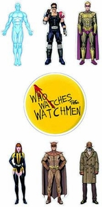 NECA Watchmen Stickers Character Set of 7
