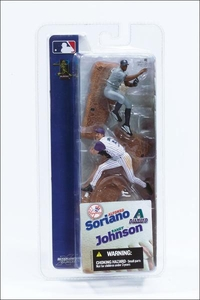 McFarlane Toys MLB 3 Inch Sports Picks Series 1 Mini Figure 2-Pack Alfonso Soriano (New York Yankees) & Randy Johnson (Arizona Diamondbacks)