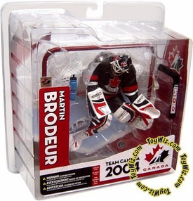 McFarlane Toys NHL Sports Picks Team Canada Action Figure Martin Brodeur Black Jersey Variant