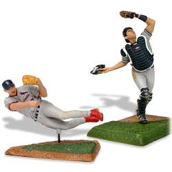 McFarlane Toys MLB 3 Inch Sports Picks Series 2 Mini Figure 2-Pack Scott Rolen (St. Louis Cardinals) & Jorge Posada (New York Yankees)