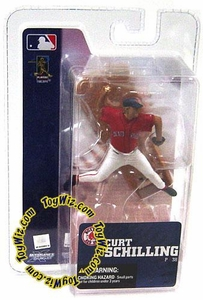 McFarlane Toys MLB 3 Inch Sports Picks Series 4 TRU EXCLUSIVE Mini Figure Curt Schilling (Boston Red Sox)