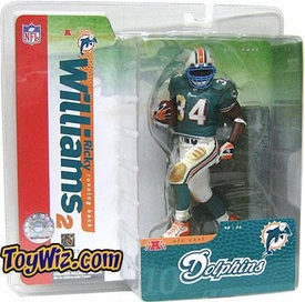 McFarlane Toys NFL Sports Picks Series 10 Action Figure Ricky Williams (Miami Dolphins) Green Jersey & Blue Face Mask Variant