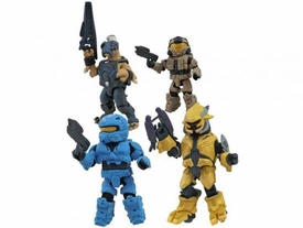 Halo 3 Exclusive Minimates Series 3 Mini Figure 4-Pack [Khaki CQB, Cobalt Rogue, Jackal Sniper & Gold Elite Combat]