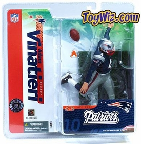 McFarlane Toys NFL Sports Picks Series 10 Action Figure Adam Vinatieri (New England Patriots) Blue Jersey