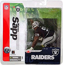 McFarlane Toys NFL Sports Picks Series 10 Action Figure Warren Sapp (Oakland Raiders) Black Jersey Chase