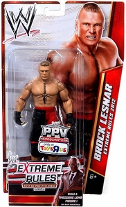 Mattel WWE Wrestling Exclusive Extreme Rules 2012 Action Figure Brock Lesnar [Build Theodore Long!]