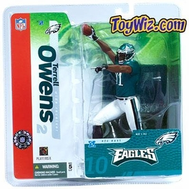 McFarlane Toys NFL Sports Picks Series 10 Action Figure Terrell Owens (Philadelphia Eagles) Green Jersey