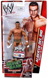 Mattel WWE Wrestling Exclusive Money In The Bank 2012 Action Figure Alberto Del Rio [Build Theodore Long!]