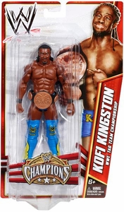 Mattel WWE Wrestling Exclusive Champions Action Figure Kofi Kingston [Tag Team Championship Belt]