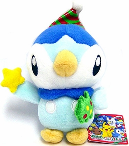 Pokemon Banpresto 6 Inch Plush Figure Christmas Piplup with Star & Tree