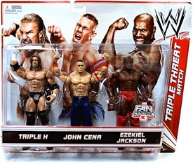 Mattel WWE Wrestling Exclusive Action Figure 3-Pack Triple H, John Cena & Ezekiel Jackson [Triple Threat Match]