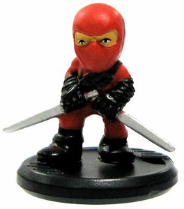 GI Joe Micro Force Series 1 Single Figure S1-23 Red Ninja [Twin Swords]