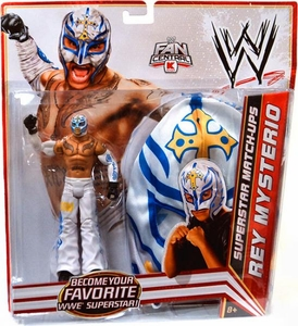 Mattel WWE Wrestling Exclusive Superstar Match-Ups Rey Mysterio [White Pants & Mask] BLOWOUT SALE!