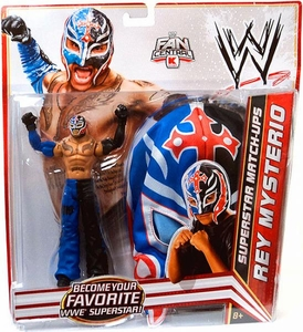 Mattel WWE Wrestling Exclusive Superstar Match-Ups Rey Mysterio [Blue / Black Pants & Mask] BLOWOUT SALE!