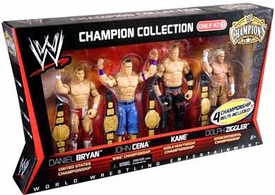 Mattel WWE Wrestling Exclusive Champion Collection Action Figure 4-Pack Daniel Bryan, John Cena, Kane & Dolph Ziggler [4 Championship Belts!]