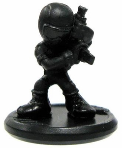 GI Joe Micro Force Series 1 Single Figure S1-17 Snake Eyes [SMG]