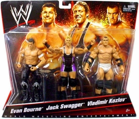 Mattel WWE Wrestling Exclusive Action Figure 3-Pack Evan Bourne, Jack Swagger & Vladimir Kozlov