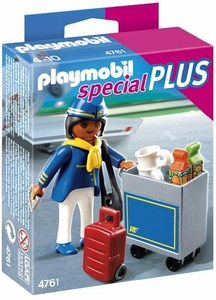 Playmobil Special Set #4761 Flight Attendant with Cart