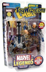 Marvel Legends Series 6 Action Figure Cable Brown Pants Variant