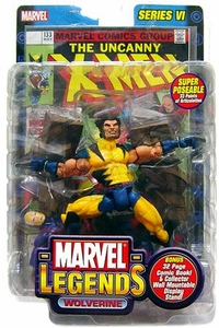 Marvel Legends Series 6 Action Figure Unmasked Wolverine Variant Damaged Package, Mint Contents!