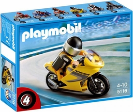 Playmobil Transport Set #5116 Super Racer Motorcycle with Rider