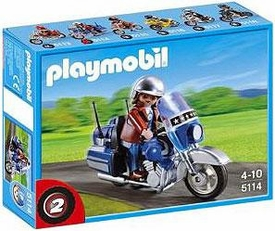Playmobil Transport Set #5114 Touring Motorcycle with Rider