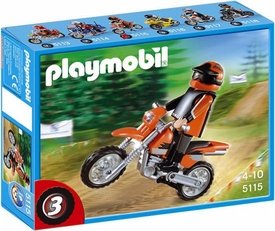 Playmobil Transport Set #5115 Enduro Motorcycle with Rider