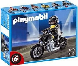 Playmobil Transport Set #5118 Custom Motorcycle with Rider