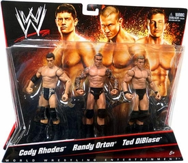 Mattel WWE Wrestling Exclusive Action Figure 3-Pack Cody Rhodes, Randy Orton & Ted DiBiase