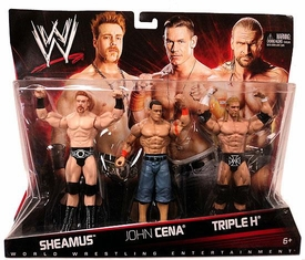 Mattel WWE Wrestling Exclusive Action Figure 3-Pack Sheamus, John Cena & Triple H