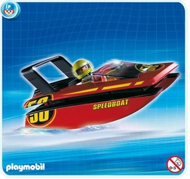 Playmobil Transport Set #4341 Carry Along Speedboat