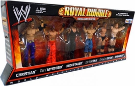 Mattel WWE Wrestling Exclusive Action Figure 6-Pack Royal Rumble Heritage Collection [Christian, Rey Mysterio, Undertaker, John Cena, Randy Orton, Sheamus]