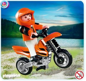 Playmobil Transport Set #4698 Motocross Boy